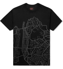 ICNY Black Map S/S Dri Balance T-Shirt Picture