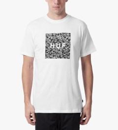 HUF White Skulls Box Logo T-Shirt Model Picture