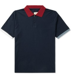 Band of Outsiders Navy Trap Pocket Polo Shirt Picture