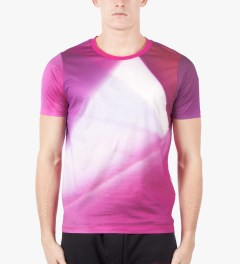 Paul Smith Pink Gradient Print T-Shirt Model Picture