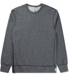 Reigning Champ Charcoal RC-3262 Heavyweight Terry L/S Crew Sweatshirt W/ Side Zip Picture