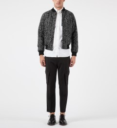 KRISVANASSCHE Black Varsity Jacket Model Picutre