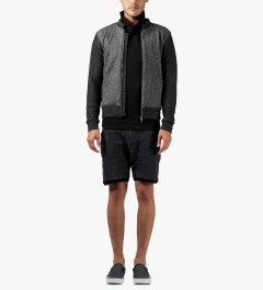 Commune De Paris Marl Black Ferdinand Zipper Jacket Model Picutre