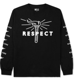 Mott Street Cycles Black Respect L/S T-Shirt Picutre