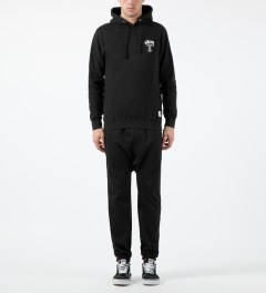 Stussy Black Camo App World Tour Hoodie Model Picture
