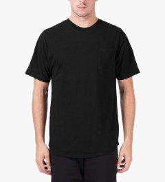 Midnight Studio Black Classic Pocket T-Shirt Model Picutre