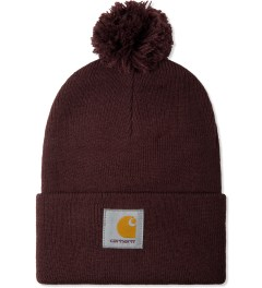 Carhartt WORK IN PROGRESS Bordeaux Bobble Watch Hat Picture