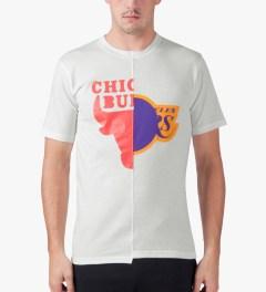 Saquatchfabrix. White/White Rival T-Shirt Model Picture