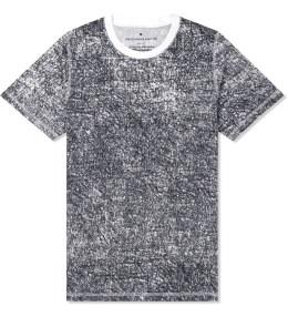 KRISVANASSCHE Black Denim Effect Print T-Shirt Picture