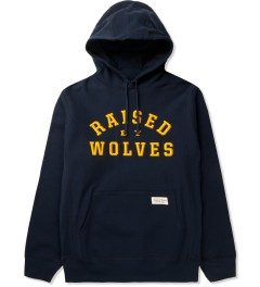 Raised by Wolves Navy College Pullover Hoodie Picutre