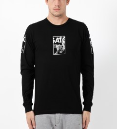 HNDSM Black Los Gatos L/S T-Shirt Model Picture