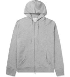 SUNSPEL Grey Melange Zip Front Hoodie Picutre