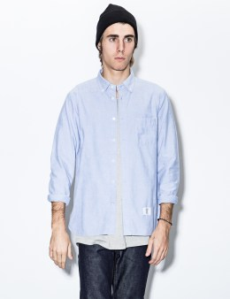 BEDWIN & THE HEARTBREAKERS Sax Brian L/S Button Down Ox Armhole Layerd Shirt Picture