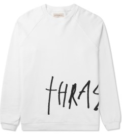 Libertine-Libertine White/Black Grill Thrasher Crewneck Sweater Picutre