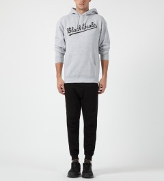 Black Scale Grey Strikeout Pullover Hoodie Model Picture