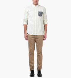 Libertine-Libertine White Hunter L/S Shirt Model Picture