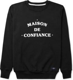 Bleu De Paname Noir Uni Maison Sweater Picutre