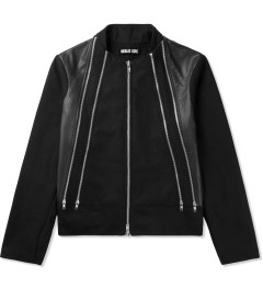Kunz by Nicklas Kunz Black Four-Pocket Bomber Jacket Picutre
