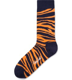 Happy Socks Orange/Black Animal Socks Picture