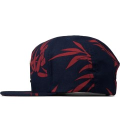 HUF Navy Hammered Metal H Bamboo Strapback Cap Model Picutre