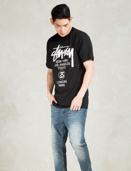 Stussy Black World Tour T-Shirt Picture