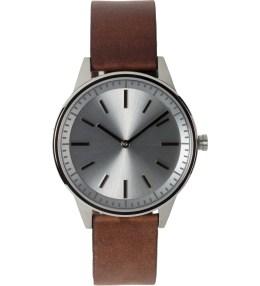Uniform Wares Brushed / Walnut Brown 250 Series Wristwatch Picture