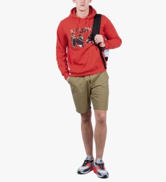 Stussy Brite Red Flags No.4 Hoodie Model Picutre