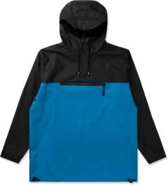 RAINS Black/Sky Blue Anorak Jacket Picture