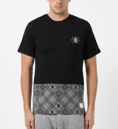 Daily Paper Black Two Tone T-Shirt Model Picture