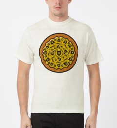 Human Made White Pizza T-Shirt Model Picture