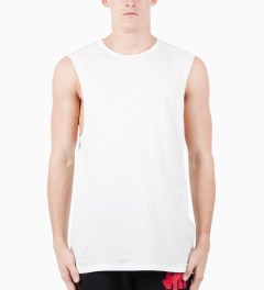 ZANEROBE White Flintlock Muscle T-Shirt Model Picture