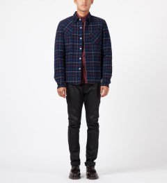 Band of Outsiders Red L/S Button Down Shirt Model Picture