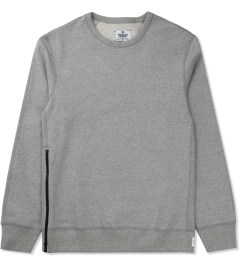 Reigning Champ Heather Grey RC-3262-1 Heavyweight Terry L/S Crew Sweatshirt W/ Side Zip Picture