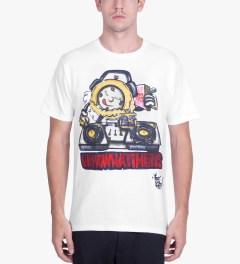 Stussy White Phade DJ Time T-Shirt Model Picutre
