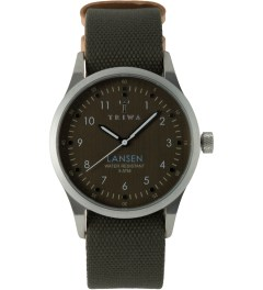 TRIWA Partisan Lansen Watch w/ Army Canvas Mono Strap Picture