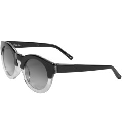 3.1 Phillip Lim Linda Farrow x 3.1 Phillip Lim PL38C2SUN Two Tone Round Acetate Sunglasses Model Picutre
