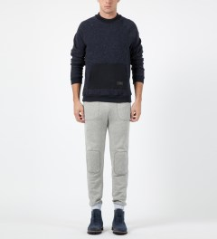 Band of Outsiders Heather Grey Woven Contrast Sweatpants Model Picture