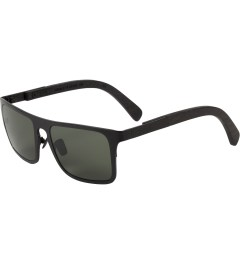 Shwood Black Titanium/Dark Walnut Govy 2: G15 Polarized Sunglasses Model Picutre
