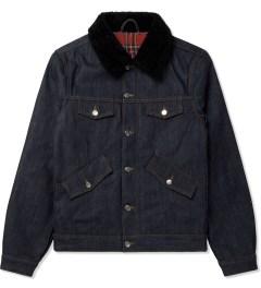 ami Shearling Collar Denim Jacket Picutre