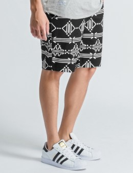Daily Paper Black/White Berber Life Elements Shorts Picture