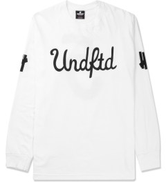 Undefeated White 5 Script L/S T-Shirt Picture