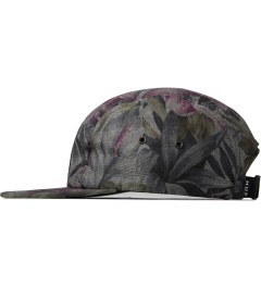 HUF Black Hawaiian Oxford Volley Cap Model Picutre