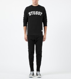 Stussy Black MLB Crewneck Sweater Model Picture