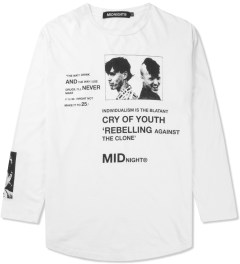 Midnight Studios White Rebel L/S T-Shirt Picutre