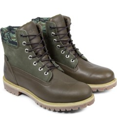 Black Scale Timberland x Black Scale Olive Green 6-inch Premium Boots Model Picture