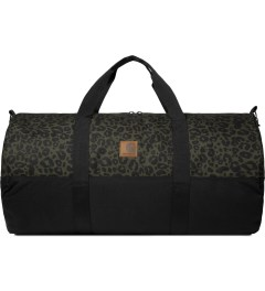 Carhartt WORK IN PROGRESS Cypress/Black Panther Print Adams Duffle Bag Picture