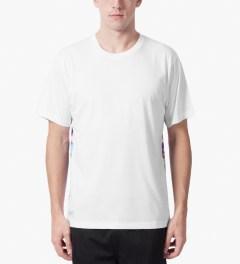 The Quiet Life White Front Premium Sohl Watercolor T-Shirt Model Picutre