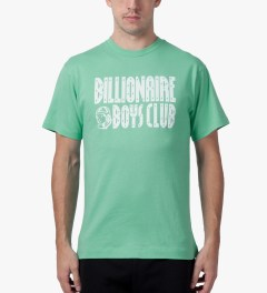 Billionaire Boys Club Ocean Wave/White S/S Straight Logo T-Shirt Model Picture