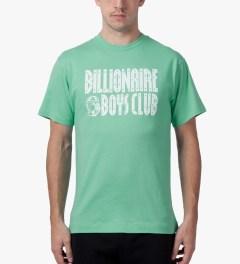 Billionaire Boys Club Ocean Wave/White S/S Straight Logo T-Shirt Model Picutre