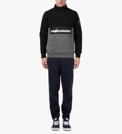 The Hundreds Black Dime Half-zip Sweater Model Picutre